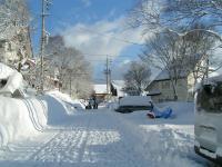 雪のペンション村