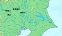 江戸時代以前の関東の水系図