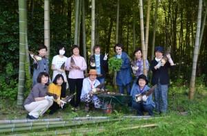 タケノコ掘りの記念写真